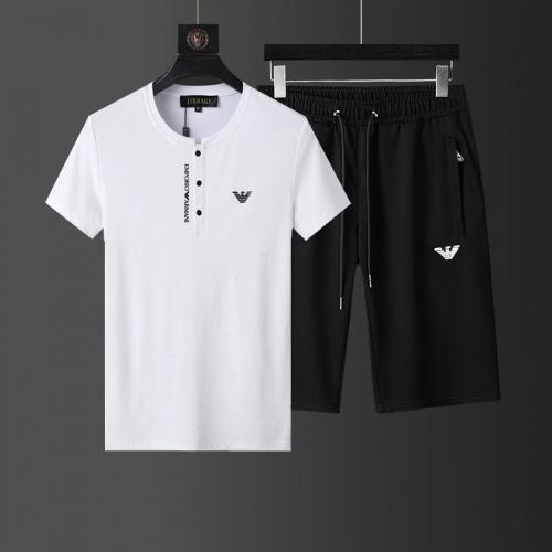 Armani Tracksuits Short Sleeved O-Neck For Men #760943