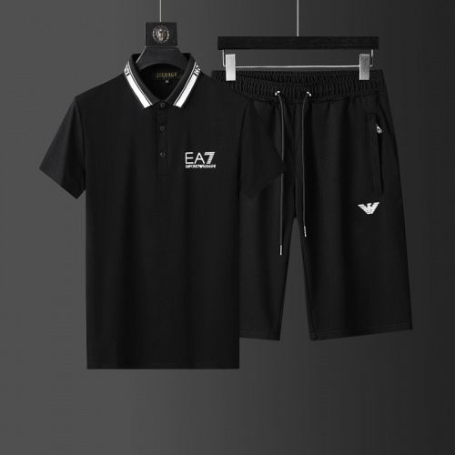 Armani Tracksuits Short Sleeved Polo For Men #760952