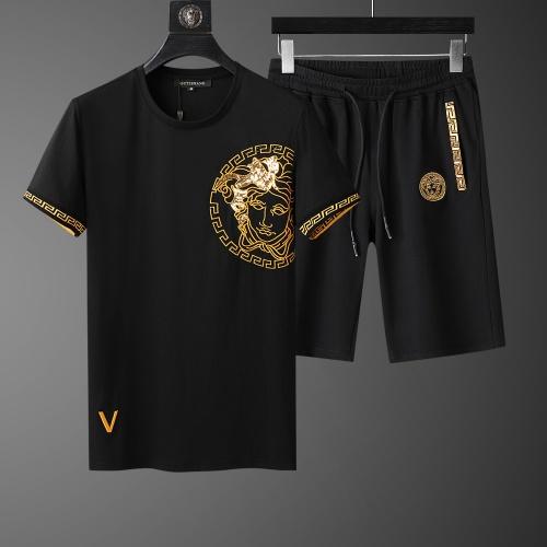 Versace Tracksuits Short Sleeved O-Neck For Men #761000