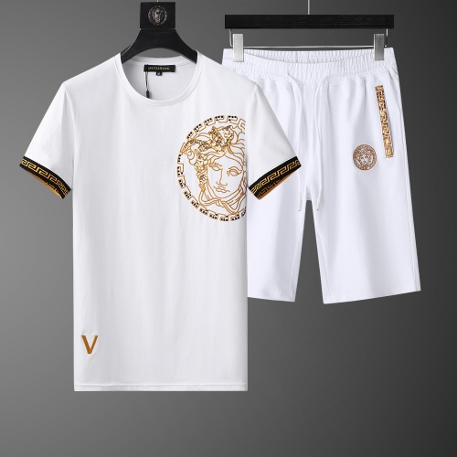 Versace Tracksuits Short Sleeved O-Neck For Men #761001