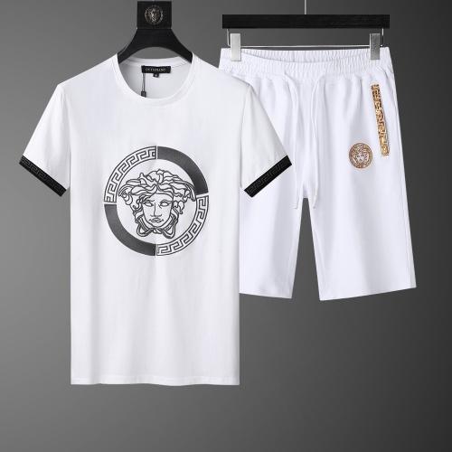 Versace Tracksuits Short Sleeved O-Neck For Men #761007