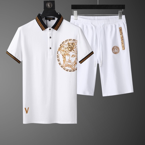 Versace Tracksuits Short Sleeved Polo For Men #761017
