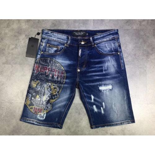 Philipp Plein PP Jeans Shorts For Men #761254