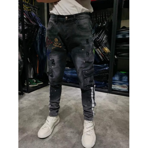 Philipp Plein PP Jeans Trousers For Men #761291