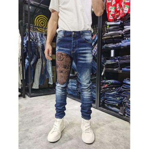 Philipp Plein PP Jeans Trousers For Men #761292