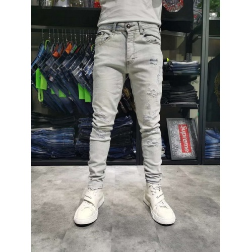 Philipp Plein PP Jeans Trousers For Men #761295