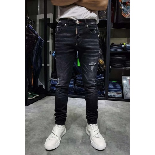 Philipp Plein PP Jeans Trousers For Men #761303 $55.29 USD, Wholesale Replica Philipp Plein PP Jeans