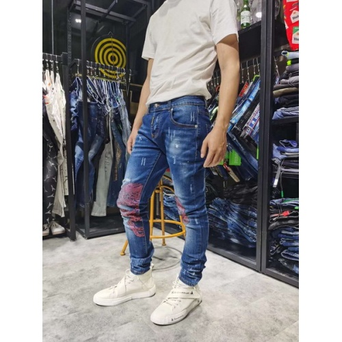 Philipp Plein PP Jeans Trousers For Men #761312