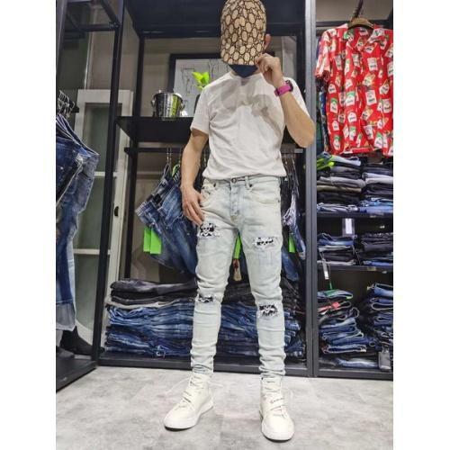 Philipp Plein PP Jeans Trousers For Men #761322