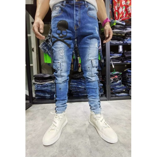 Philipp Plein PP Jeans Trousers For Men #761326