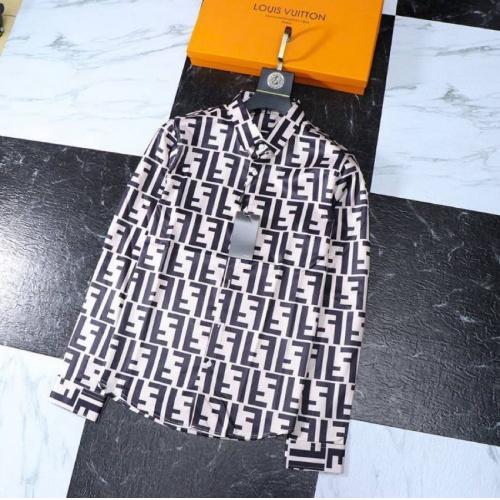 Fendi Shirts Long Sleeved Polo For Men #761467