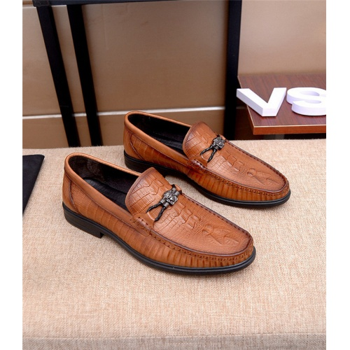 Versace Leather Shoes For Men #761607