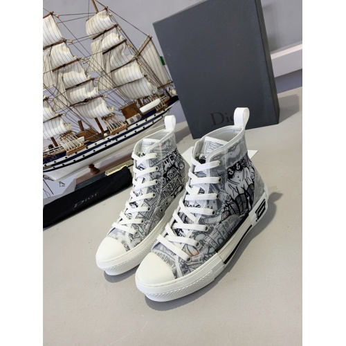 Christian Dior High Tops Shoes For Men #762099