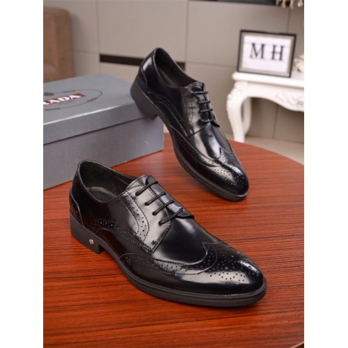 Prada Leather Shoes For Men #762992