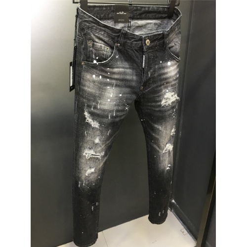 Replica Dsquared Jeans Trousers For Men #763552 $56.26 USD for Wholesale