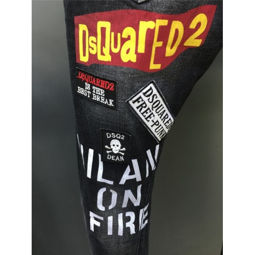 Replica Dsquared Jeans Trousers For Men #763555 $58.20 USD for Wholesale