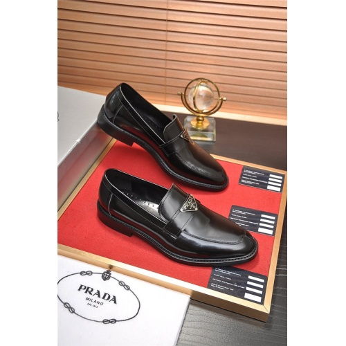 Prada Leather Shoes For Men #763605