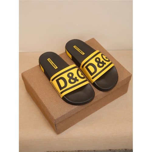 Dolce & Gabbana D&G Slippers For Men #764044