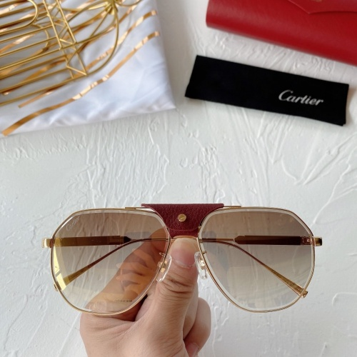 Cartier AAA Quality Sunglasses #764187