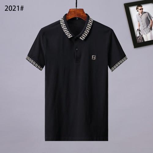 Fendi T-Shirts Short Sleeved Polo For Men #764750 $28.13 USD, Wholesale Replica Fendi T-Shirts