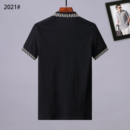 Replica Fendi T-Shirts Short Sleeved Polo For Men #764750 $28.13 USD for Wholesale