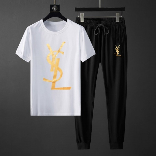 Yves Saint Laurent YSL Tracksuits Short Sleeved O-Neck For Men #764800
