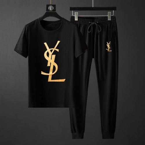Yves Saint Laurent YSL Tracksuits Short Sleeved O-Neck For Men #764801