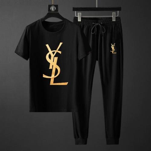 Yves Saint Laurent YSL Tracksuits Short Sleeved O-Neck For Men #764801