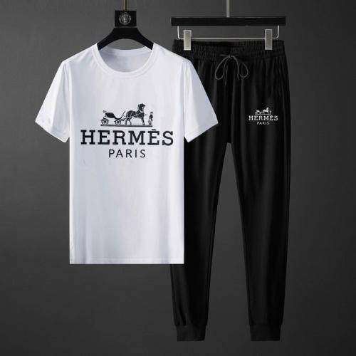Hermes Tracksuits Short Sleeved O-Neck For Men #764802