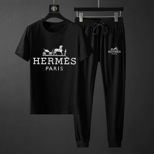 Hermes Tracksuits Short Sleeved O-Neck For Men #764803