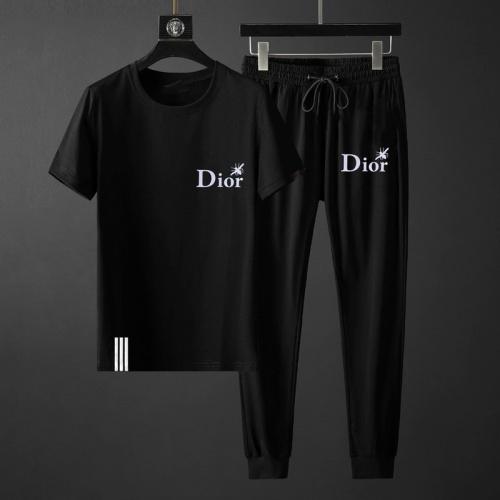 Christian Dior Tracksuits Short Sleeved O-Neck For Men #764811 $69.84, Wholesale Replica Christian Dior Tracksuits