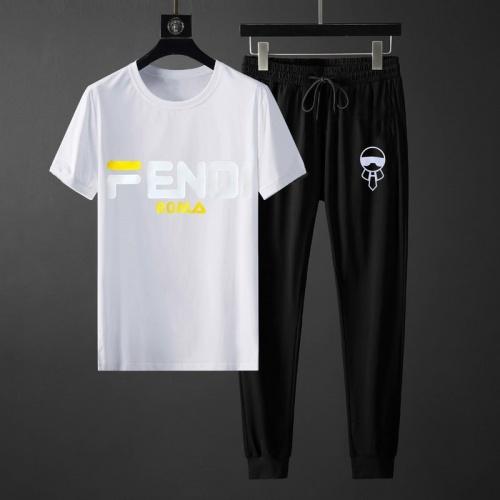 Fendi Tracksuits Short Sleeved O-Neck For Men #764814