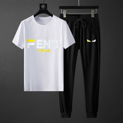 Fendi Tracksuits Short Sleeved O-Neck For Men #764816