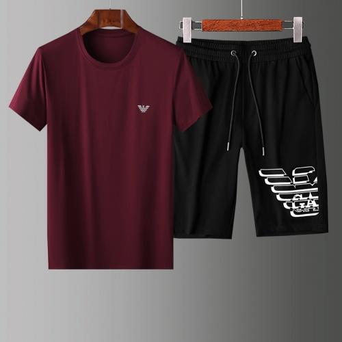 Armani Tracksuits Short Sleeved O-Neck For Men #765540