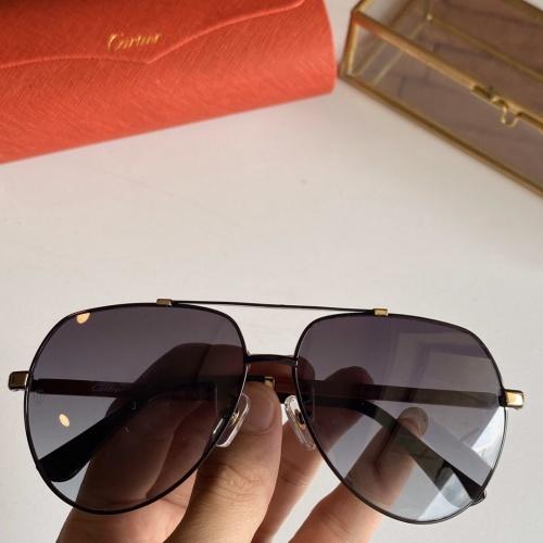 Cartier AAA Quality Sunglasses #766199 $59.17 USD, Wholesale Replica Cartier Super AAA Sunglasses