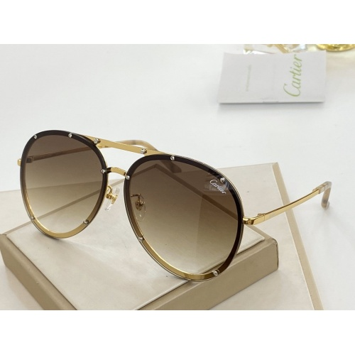 Cartier AAA Quality Sunglasses #766352