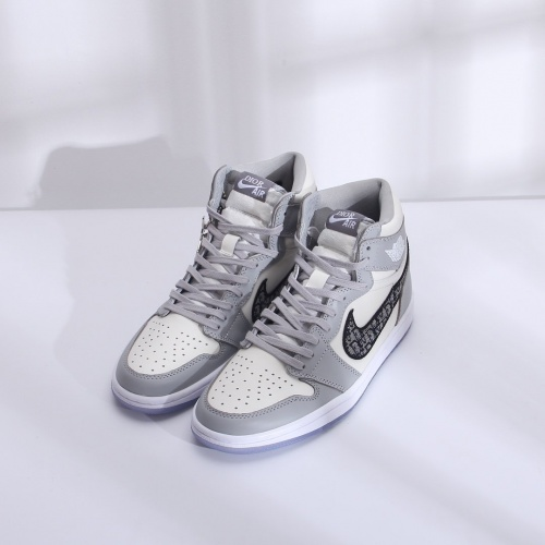 Air Jordan 1 & Christian Dior High Tops Shoes For Men #766701