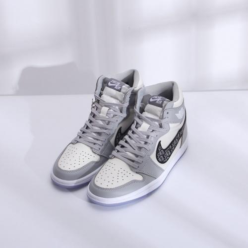 Air Jordan 1 & Christian Dior High Tops Shoes For Men #766701