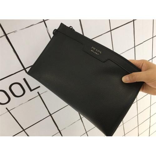 Replica Prada AAA Man Wallets #766853 $79.54 USD for Wholesale