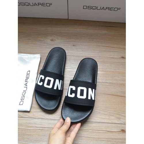 Replica Dsquared Slippers For Women #767451 $40.74 USD for Wholesale
