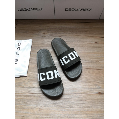 Dsquared Slippers For Men #767462 $40.74 USD, Wholesale Replica Dsquared Slippers