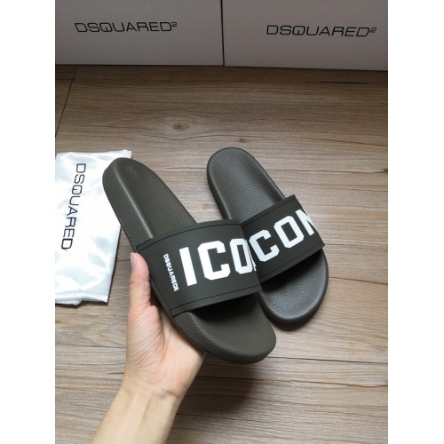 Replica Dsquared Slippers For Men #767462 $40.74 USD for Wholesale