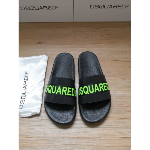 Dsquared Slippers For Men #767486 $40.74 USD, Wholesale Replica Dsquared Slippers