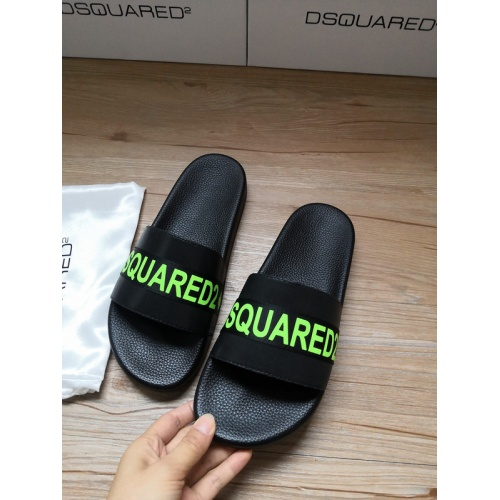 Replica Dsquared Slippers For Men #767486 $40.74 USD for Wholesale