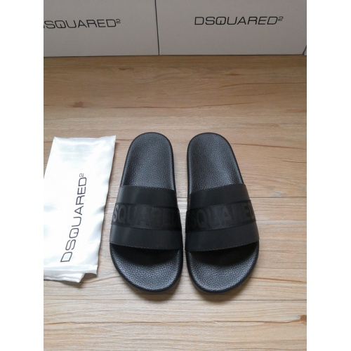 Dsquared Slippers For Men #767500 $40.74 USD, Wholesale Replica Dsquared Slippers