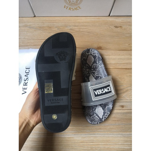 Replica Versace Slippers For Men #767502 $43.65 USD for Wholesale