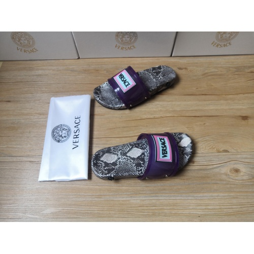 Replica Versace Slippers For Men #767504 $43.65 USD for Wholesale