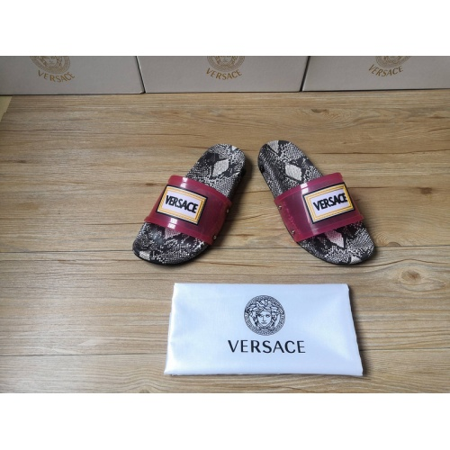 Replica Versace Slippers For Men #767508 $43.65 USD for Wholesale