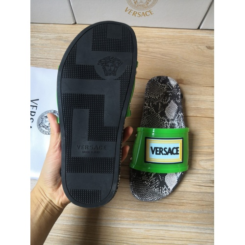 Replica Versace Slippers For Men #767510 $43.65 USD for Wholesale