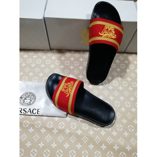 Replica Versace Slippers For Men #767512 $41.71 USD for Wholesale